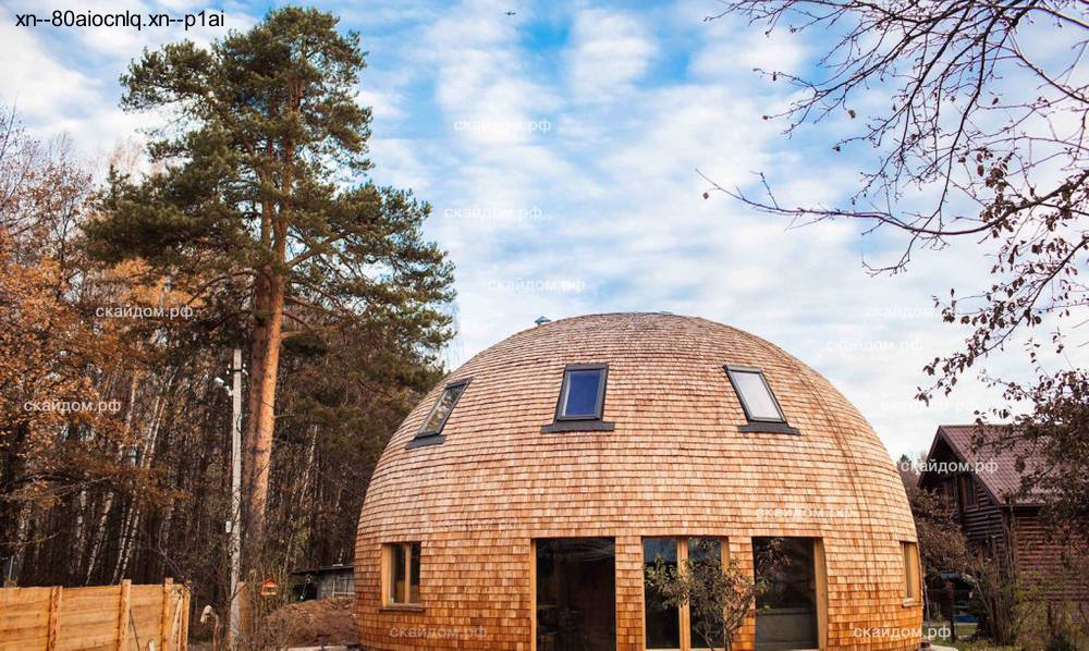 Font: http://www.arquitecturadecasas.info/wp-content/uploads/2015/12/casa-domo-de-madera-Rusia-1.jpg